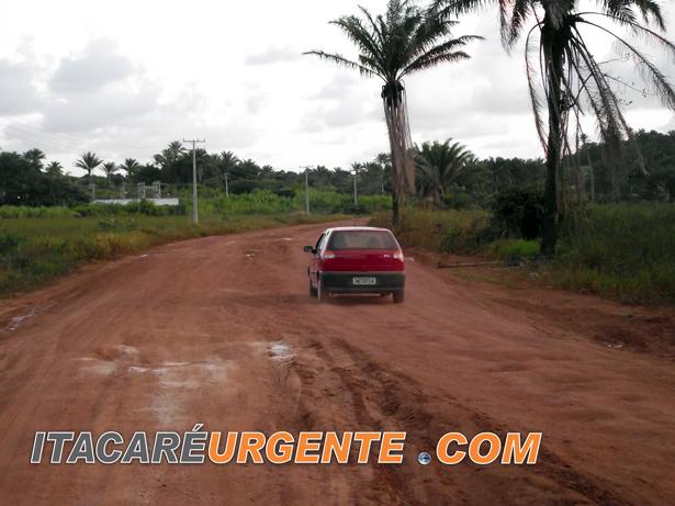 Esse é um dos melhores trechos da rodovia Ubaitaba - Maraú. Foto: Aleilton Oliveira