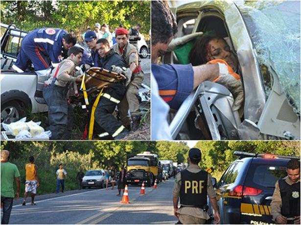 Porto Seguro: Carros batem de frente e deixam 6 pessoas feridas