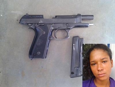 Ibirapitanga: PM apreende pistola 380 com mulher em Itamarati
