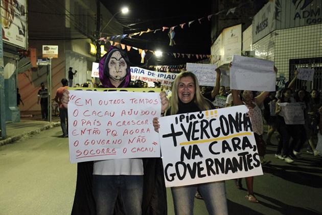 Ipiaú também realizou protesto pacífico pelas ruas da cidade