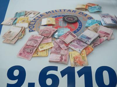 Ubaitaba: Polícia Militar prende mulher com mais de R$ 4 mil reais
