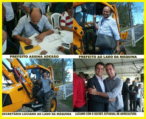 Ibirataia: Município recebe retroescavadeira do PAC 2