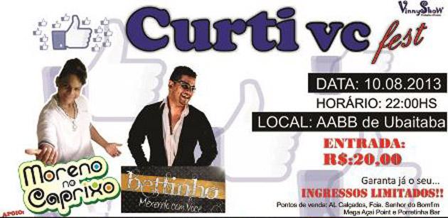 """Ubaitaba: Neste sábado (10) você não vai perder o """"Curti vc fest"""""""