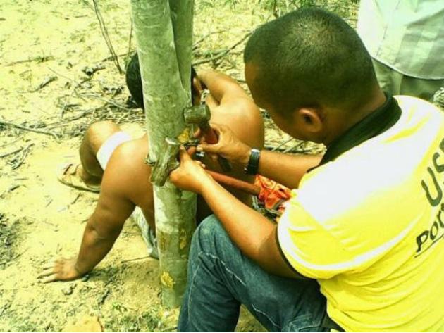 Homem é assaltado e acorrentado pelo pescoço em árvore na Bahia