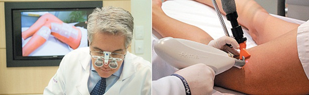 Augusto Barroso mostra como a realidade aumentada facilita a localização de vasos e veias doentes (Foto: Divulgação)
