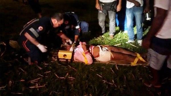 Ipiaú: Garota de 14 anos sofre fratura exposta em acidente na BR-330