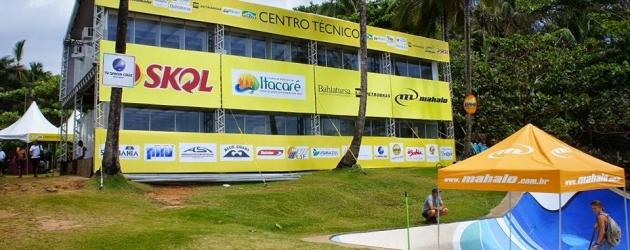 Tudo pronto em Itacaré para o início do Mahalo Bahia Bodyboarding Show.