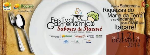 Confira a programação do Festival Gastronômico promete agitar Itacaré.