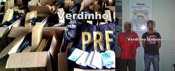 Caixas com R$ 300 quilos de maconha e 50 mil em cédulas falsas são apreendidos na BR-101