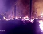 Ubaitaba: Incêndio nesta madrugada destrói 4 casas no Bairro Gutemberg Araújo