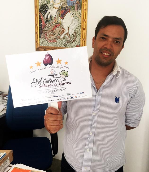 André Reis, secretário de Turismo de Itacaré trabalhou sério para fazer um grande evento para os visitantes do festival.