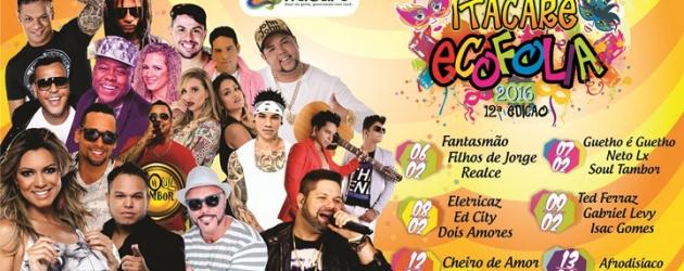 Saiu a programação do Carnaval de Itacaré 2016.