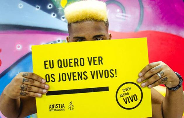 Campanha da Anistia Internacional alerta para alto índice de homicídio de jovens negros