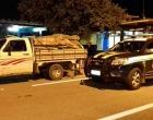 Itagí: PRF apreende caminhão com madeira extraída ilegalmente