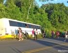 Camamu: Ônibus com universitários perde o freio e quase cai em ribanceira