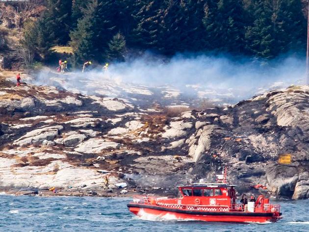 Helicóptero cai e mata 11 na cidade de Bergen, na Noruega