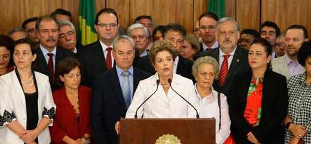 """""""Vou lutar até o fim"""", diz Dilma em discurso após ser afastada"""