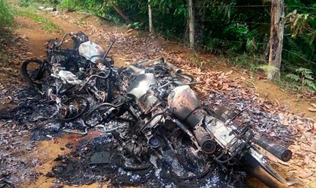 Mototaxistas têm veículos incendiados por bandidos na zona rural de Ibirapitanga