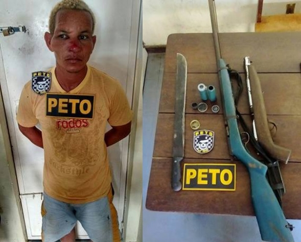 A Guarnição do PETO deslocou-se na tarde desta terça-feira (10) até a Região de Serra de Água, na Zona Rural de Taboquinhas, distrito de Itacaré, e efetuou a prisão de Derivaldo Lira dos Santos acusado de abusar sexualmente a filha menor de idade e ameaçar familiares.