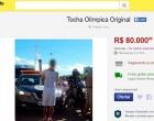 Condutores vendem vestimenta e tocha olímpica na internet por até R$ 120 mil