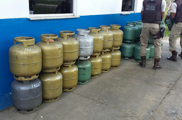 Ipiaú: polícia realiza operação contra venda clandestina de gás de cozinha
