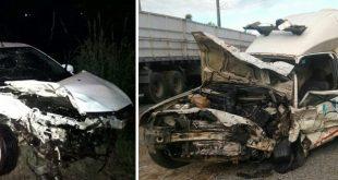 Colisão entre ambulância e carro deixa um morto e dois feridos na BR-101