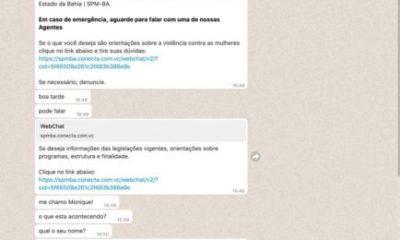 Mulheres já podem denunciar violência doméstica pelo WhatsApp na Bahia