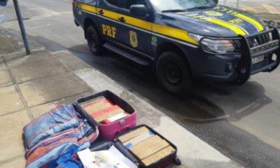 PRF apreende 36 quilos de drogas enviadas do Rio de Janeiro para Itabuna
