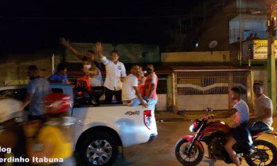 Prefeito eleito em Itabuna, Augusto Castro e eleitores realizam carreata pelas ruas da cidade